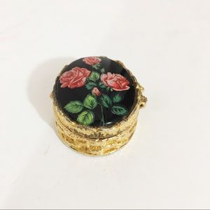 Vintage Other - Vintage Floral Snuff/Pill Box